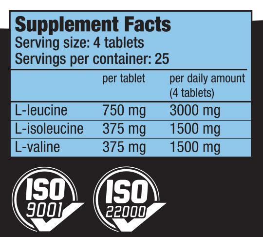 Biotech USA - Αμινοξέα BCAA's - BCAA 6000 100 tablets