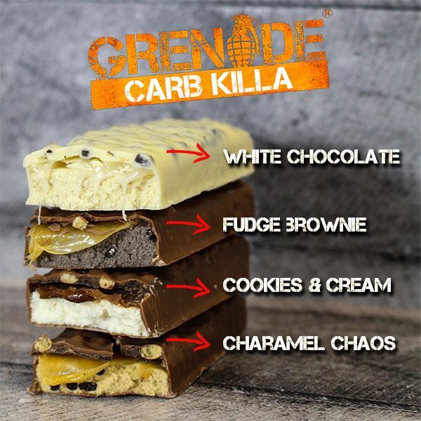 Grenade - Πρωτεϊνικές Σοκολάτες - Μπάρες - Μπισκότα - Carb Killa 12 x 60 gr