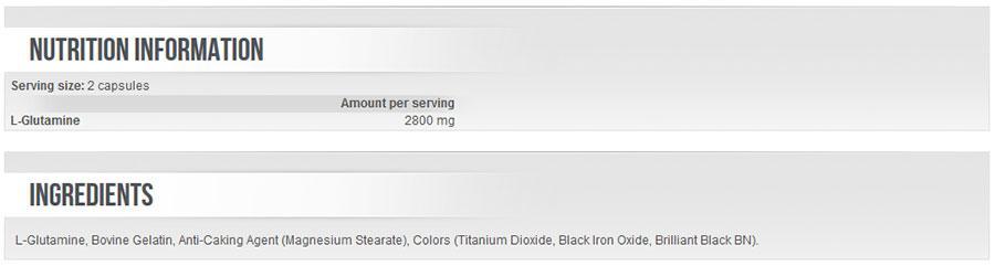 Scitec Nutrition - L-Glutamine - Mega Glutamine 120 caps