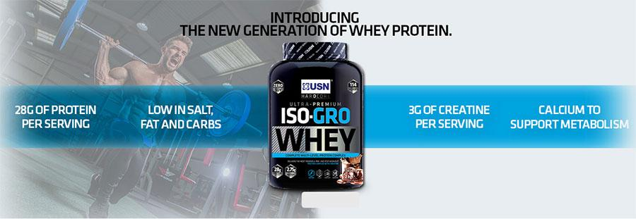 USN Nutrition - Πρωτεΐνες - Iso-Gro Whey 2kg