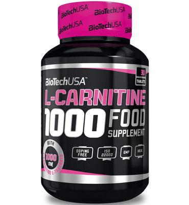 L-Carnitine 1000 mg, 30 tablets