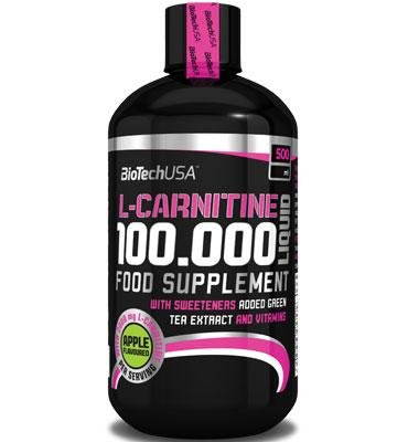 L-Carnitine Liquid 100000 mg, 500 ml Μήλο