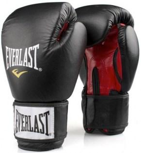 Everlast-Leather-Boxing-Glove-Fighter-Black-Red
