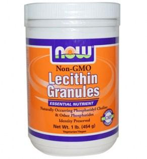 NOW - LECITHIN GRANULES Non-GMO - 454 gr